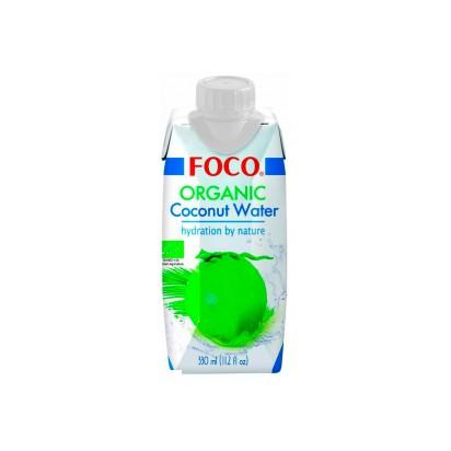 Кокосовая вода органическая тетрапак FOCO 330мл.
