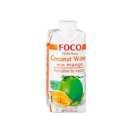 Кокосовая вода с манго тетрапак FOCO 330мл.
