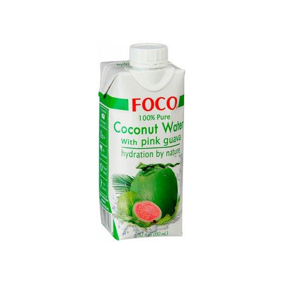 Кокосовая вода с розовой гуавой тетрапак FOCO 330мл.
