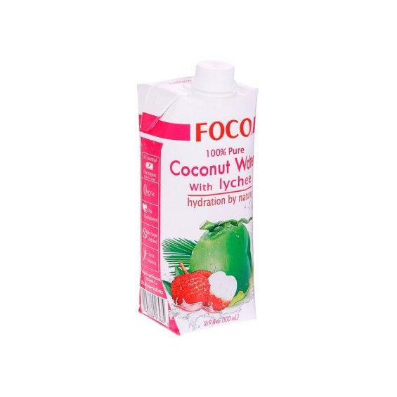 Кокосовая вода с соком личи тетрапак FOCO 330мл.