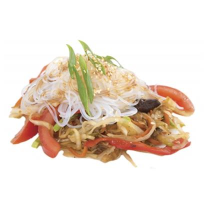 Лапша рисовая c овощами