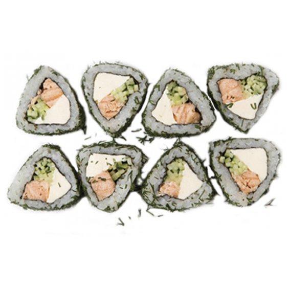 Ролл с лососем темпура
